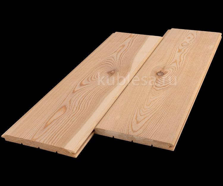 Вагонка штиль из лиственницы сорт В 90x14 мм - купить в магазине Кублеса по цене 600 руб.